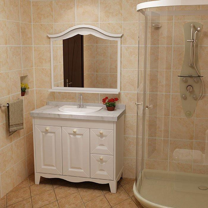 beige stand up bathroom cabinet supplier for apartment Fadior Stainless Steel Kitchen Cabinets