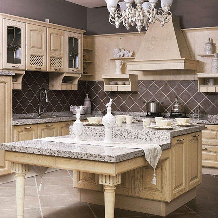 Stainless Steel Modular Kitchen American White Ash Grain - G002 Versailles