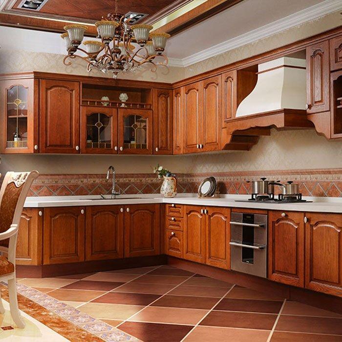 G003 Eiffel - American Red Oak Kitchen Quartz Stone Countertop