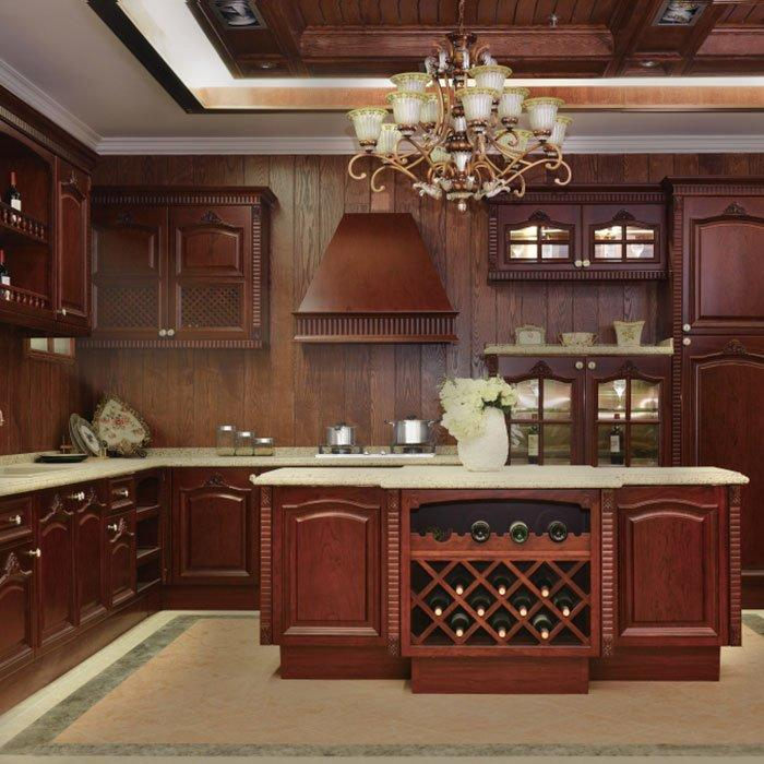 Luxury Stainless Steel Kitchen Noble and Classical Modular Kitchen Cabinet - G007 Leonardo da Vinci