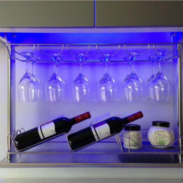 Fadior Stainless Steel Kitchen Cabinets set iron cabinet hardware